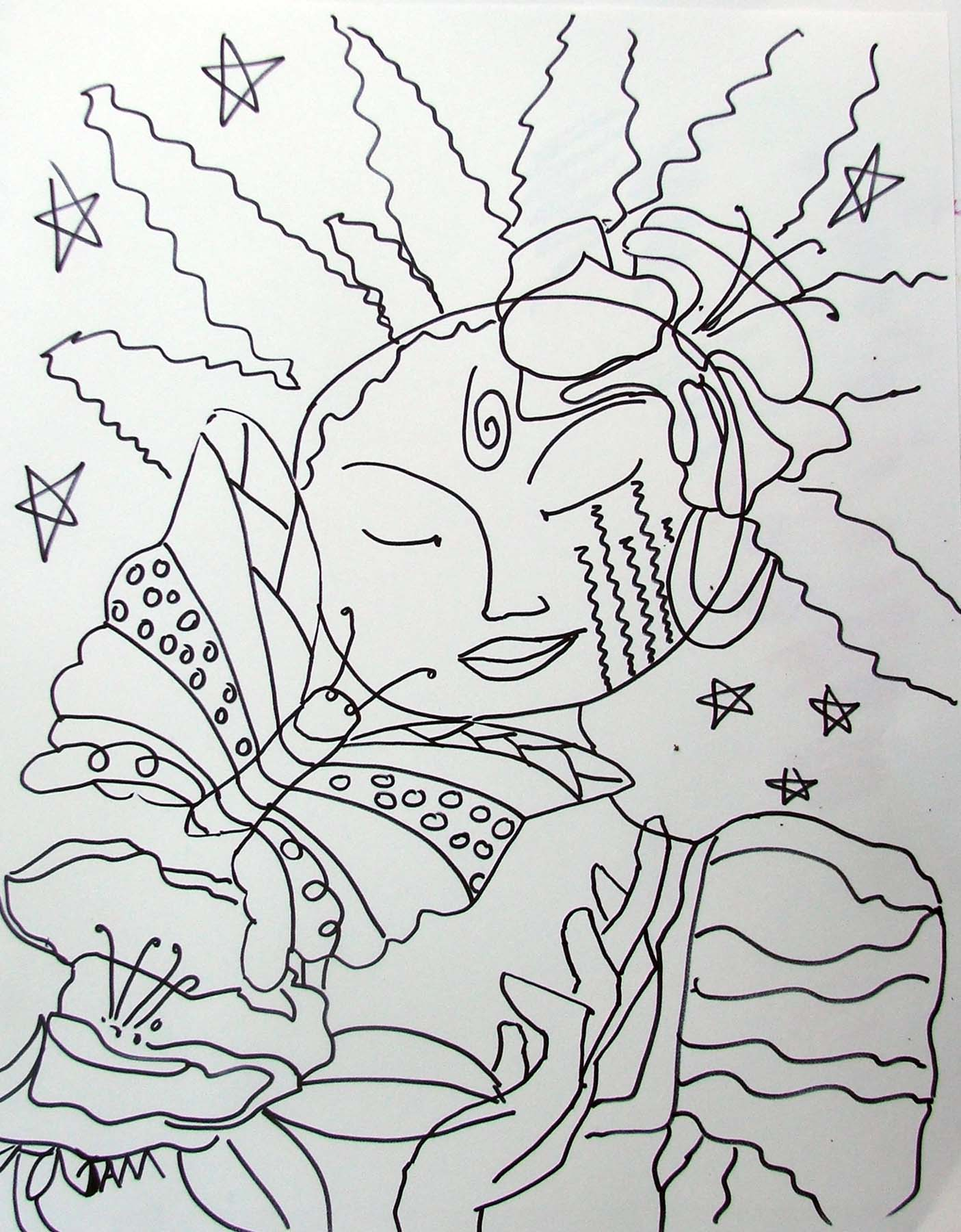 Abstract Butterfly Coloring Pages : Free coloring pages of abstract butterflies