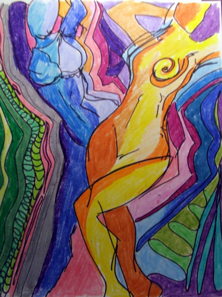 Original art, Dancing with my Shadow by Tammy Vitale