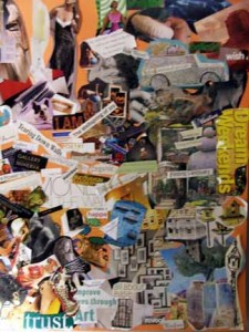 vision board collage