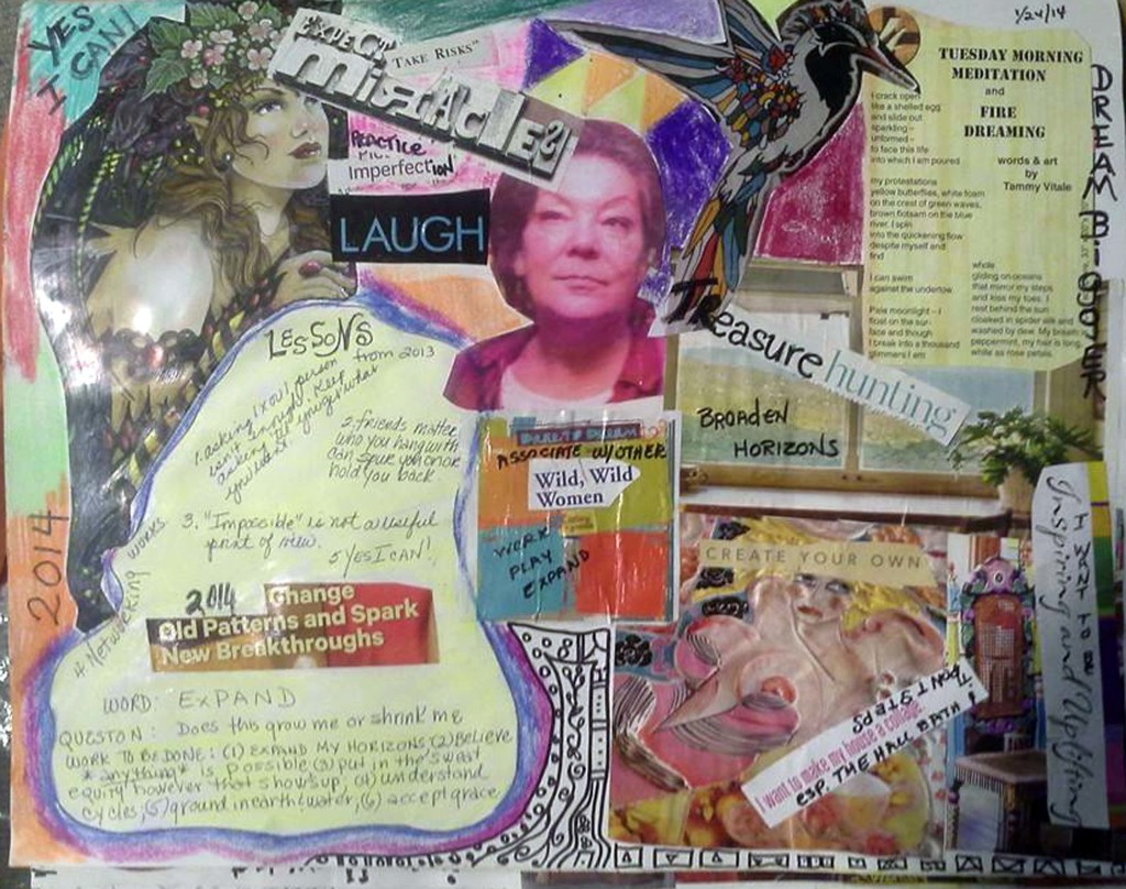collage I created early January 2014 for the coming year.