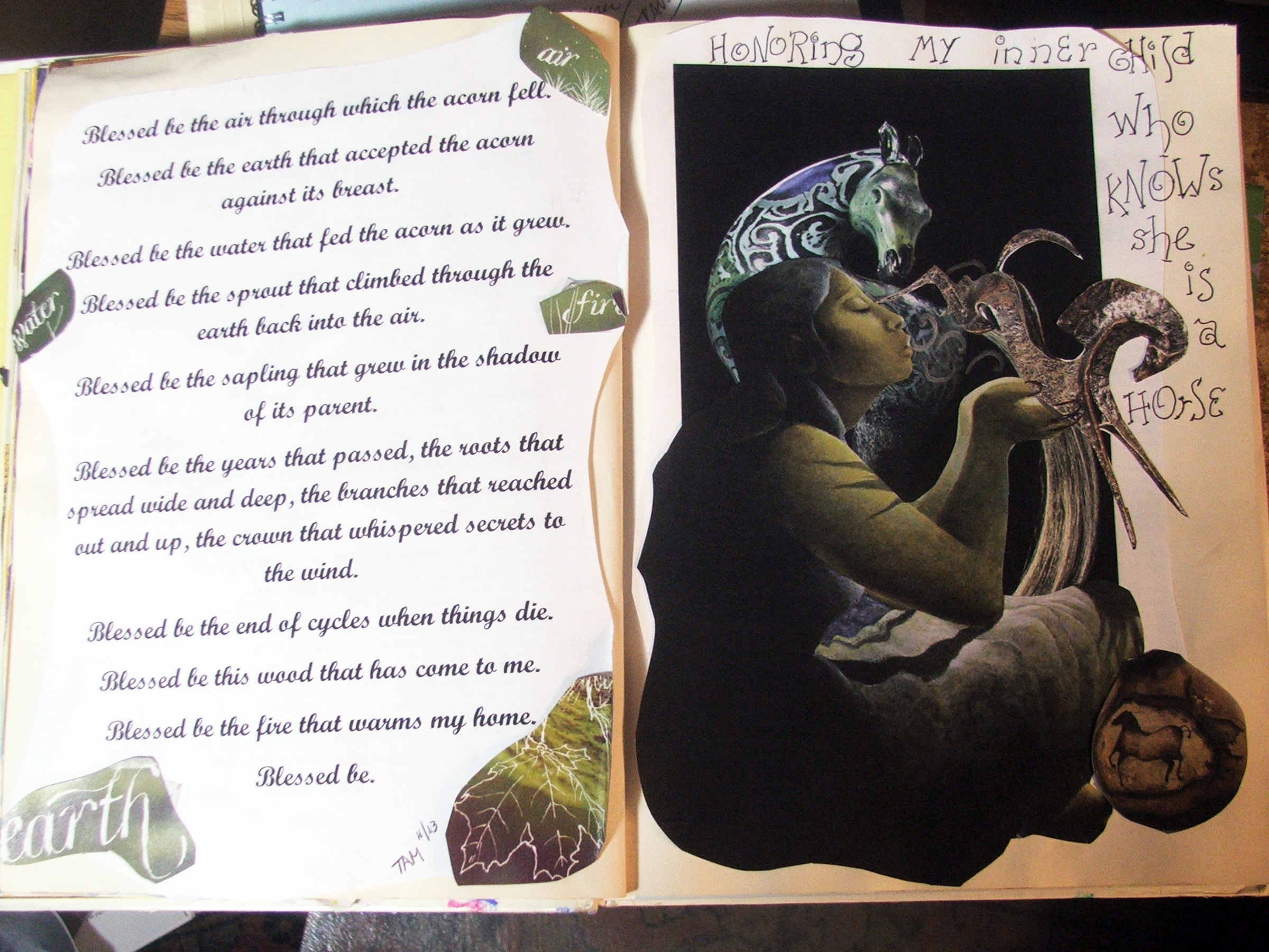 AEDM 11.13, from an on-going altered book project I started 8 years ago the first year I did Art Every Day Month