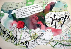 Page 4 of Altered Book started for Art Every Day Month in 2006, my first year!