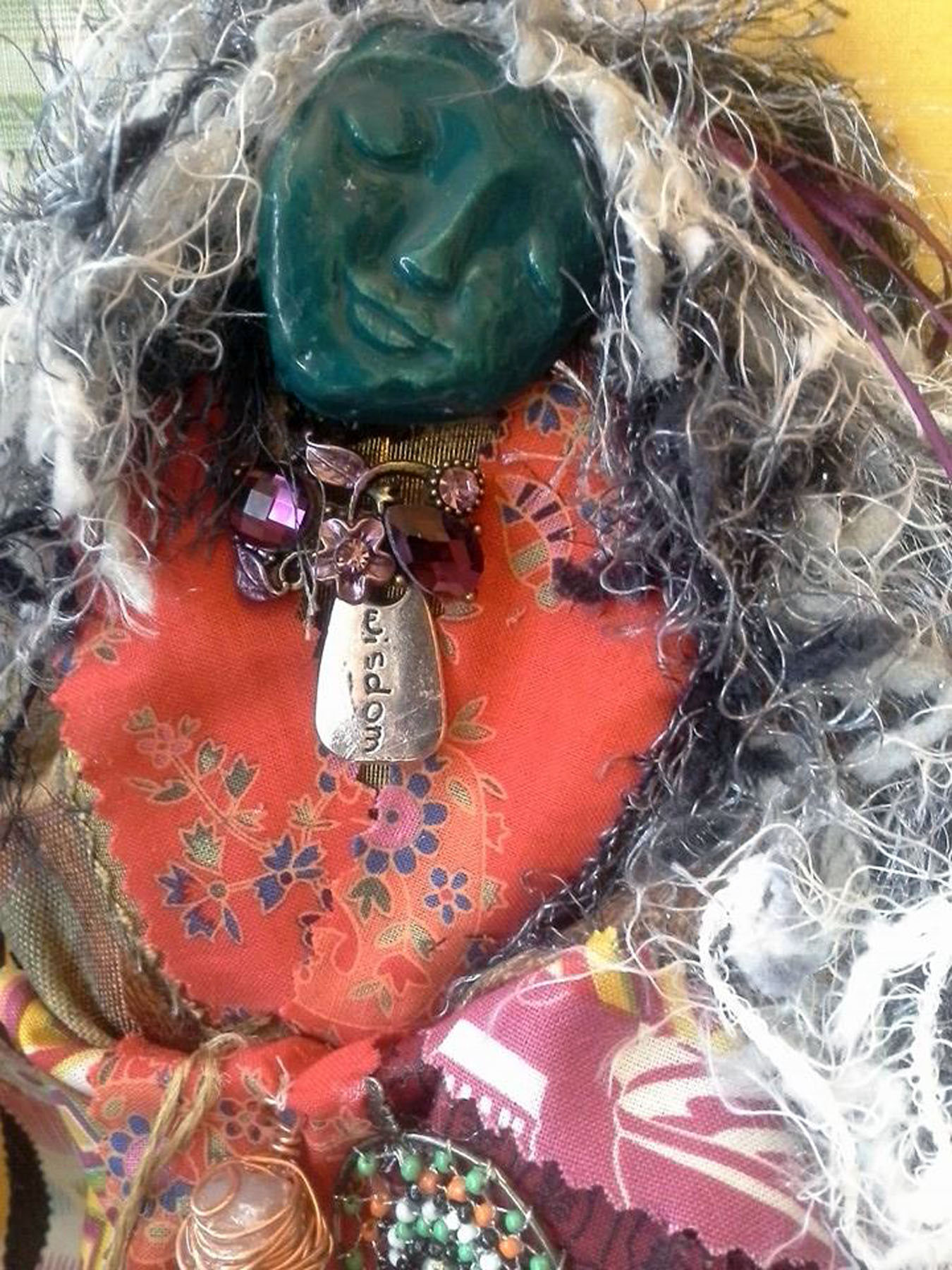 Wylde Crone Rising Spirit Doll:  detail of head