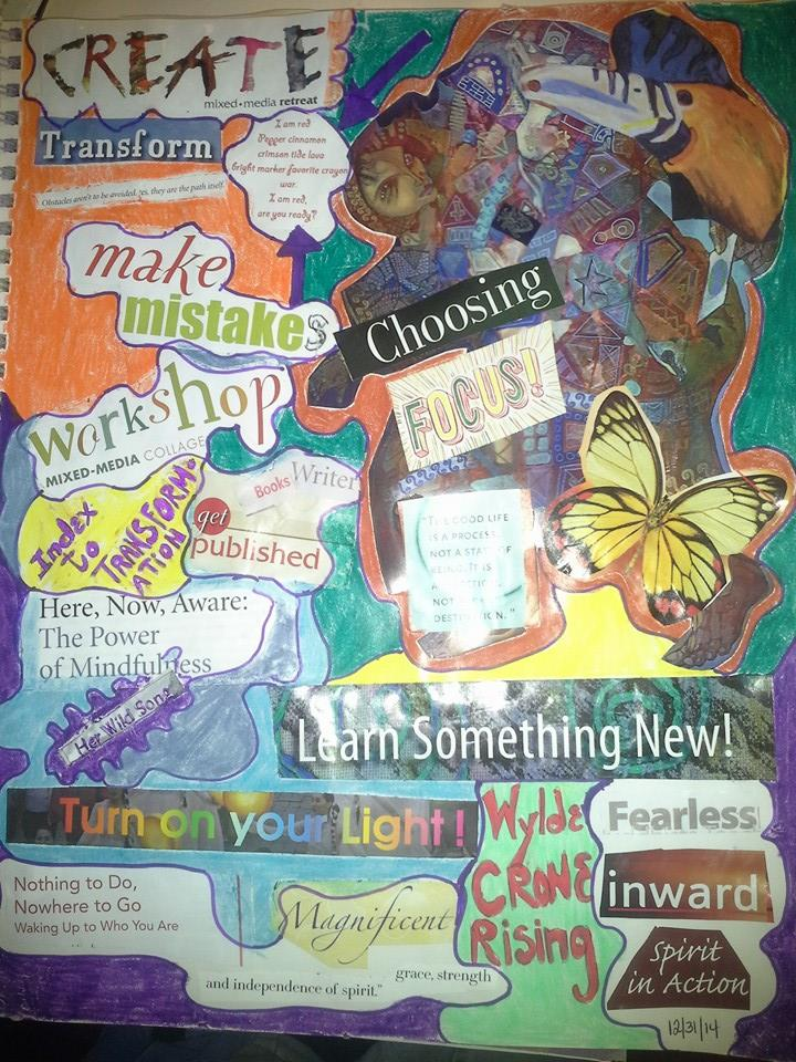 Vision Journal page for 2015...but I have to make another one for PLAY!!!