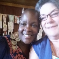 picture of Tammy Vitale and Sonya Renee Taylor at Life Is A Verb Camp 2015