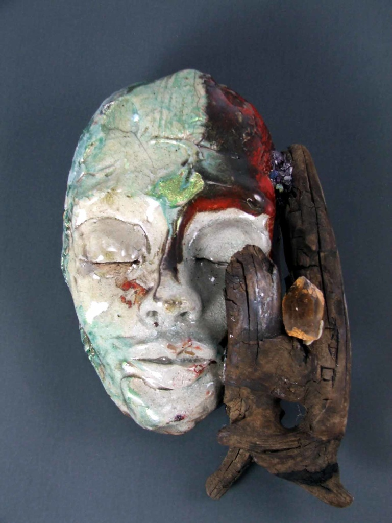 A Dream of Myself, ceramic mask by Tammy Vitale, TammyVitale.com