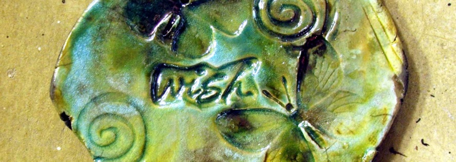 Wish, raku tile by Tammy Vitale, TammyVitale.com