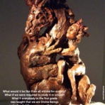 """Jessie's Dragon"" stand -alone ceramic sculpture by Tammy Vitale"