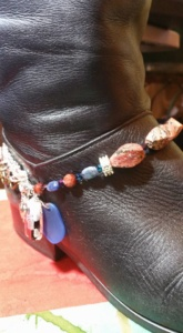 picture of a boot bracelet made by Tammy Vitale