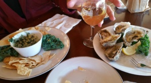 Chesapeake Wine Trail: General's Ridge, oysters on the half chell with spinich and artichoke dip