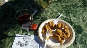 Chesapeake Wine Trail: Fried Oysters and wine at Oakcrest Vineyard and Winery