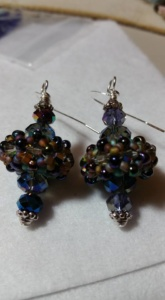 beaded bead earrings by Tammy Vitale