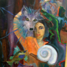 Night Vision - acrylics on 24 x 36 canvass, by Tammy Vitale
